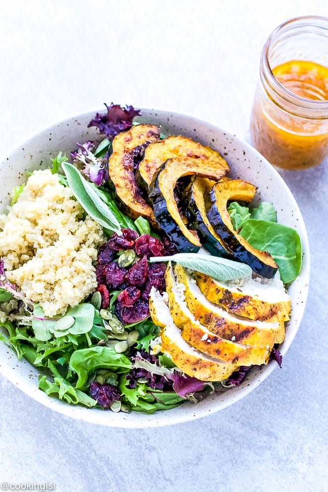 grilled-turmeric-chicken-salad-pumpkin-vinaigrette