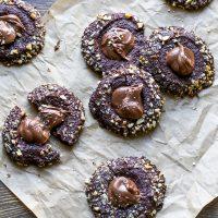 chocolate-shortbread-nutella-thumbprint-cookies