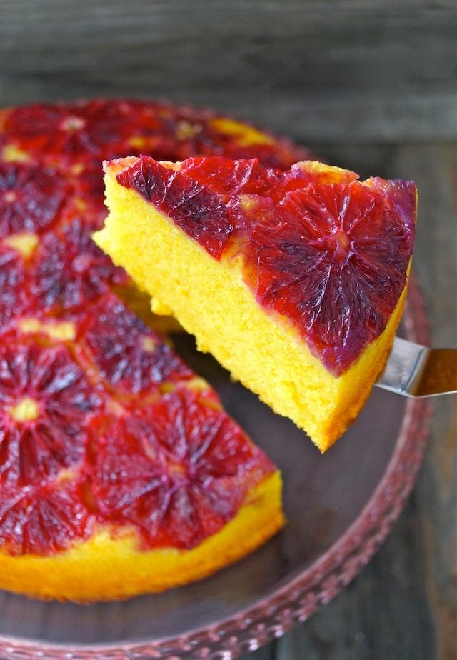 blood orange turmeric upside down pound cake