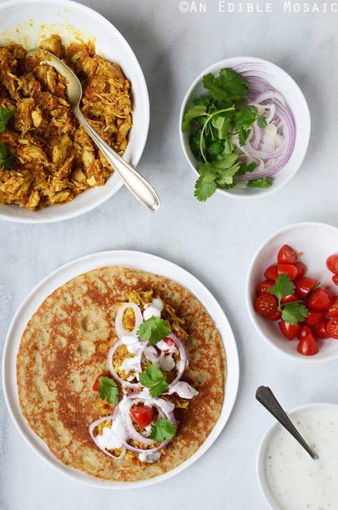turkey or chicken masala wraps