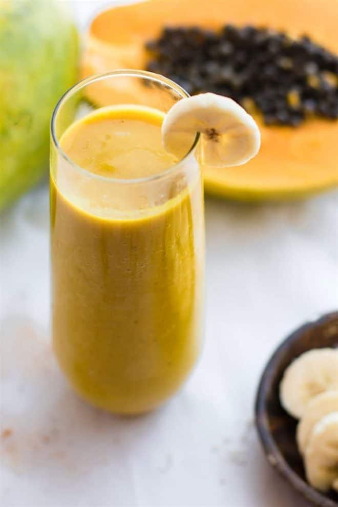 tropical turmeric golden milk smoothie