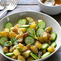sumac roasted potato cucumber salad