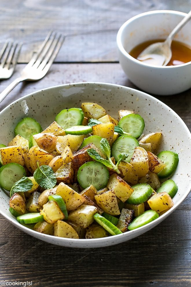 sumac roasted potatoes cucumber salad