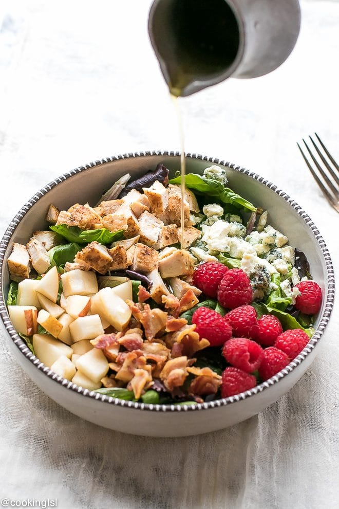 Pear And Raspberry Chicken Salad Recipe
