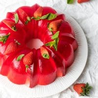 Milk Strawberry Jell-O Mold Bundt Recipe