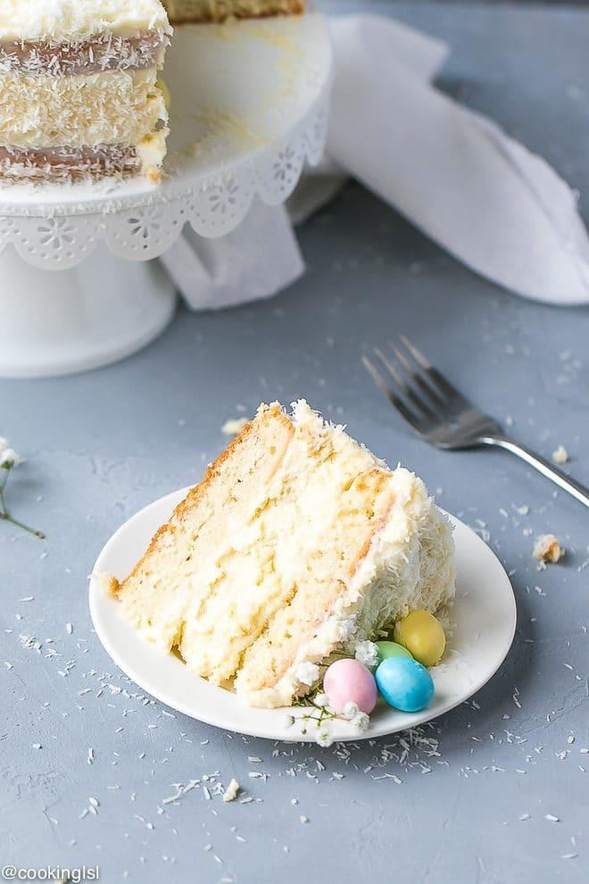 Coconut Cheesecake Cake