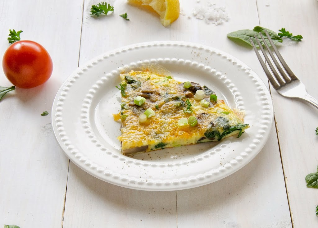 spinach-cheddar-mushroom-frittata-omelet-healthy-breakfast-easy-quick