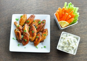 Sriracha-spicy-oven-baked-chicken-wings
