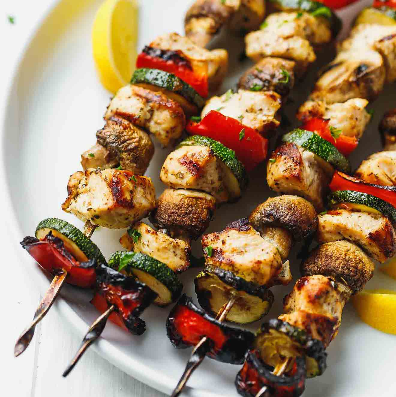 The recipe for snacks on nature: not a shish kebab single