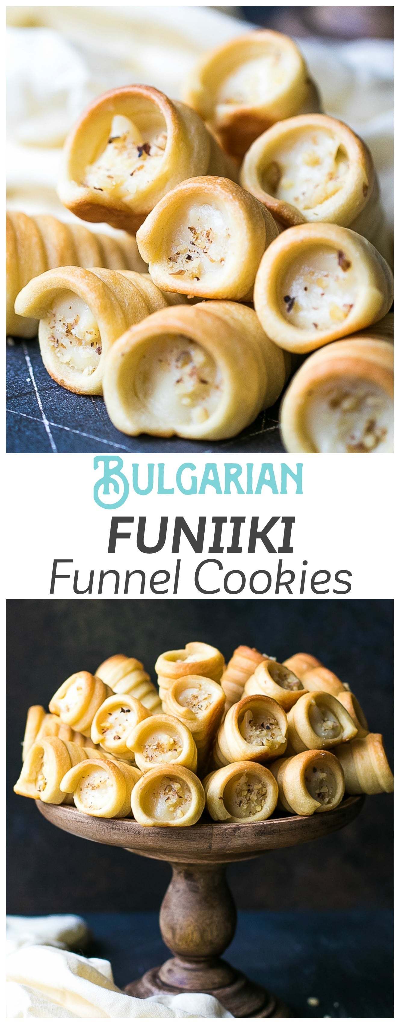 Custard Filled Pastry Horns Recipe (Funnels/Funiiki) - soft hand cookie shell, filled with homemade custard, I call this a cookie heaven! These cookies take some time and effort to make, but they are totally worth it!