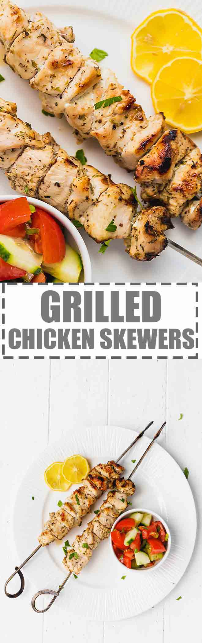 Today's recipe is for a low calorie, delicious, flavorful and full of protein meal - gilled chicken skewers.