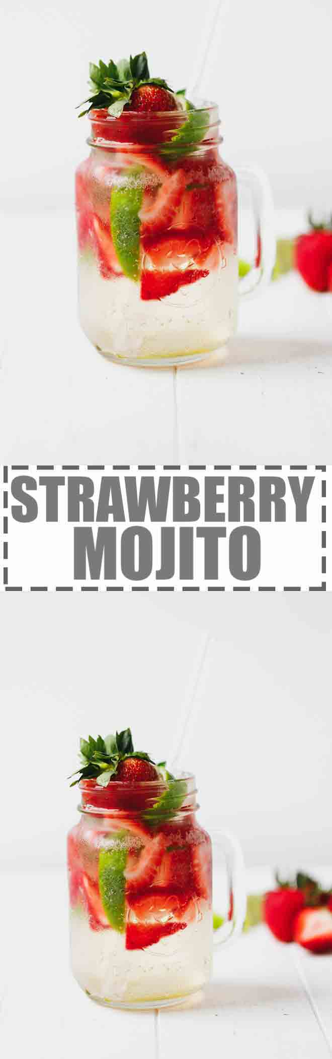 Refreshing and Delicious Strawberry Mojito With Simple Syrup Easy Recipe. Easy to make and great for summer. #mojito #strawberries #cocktail