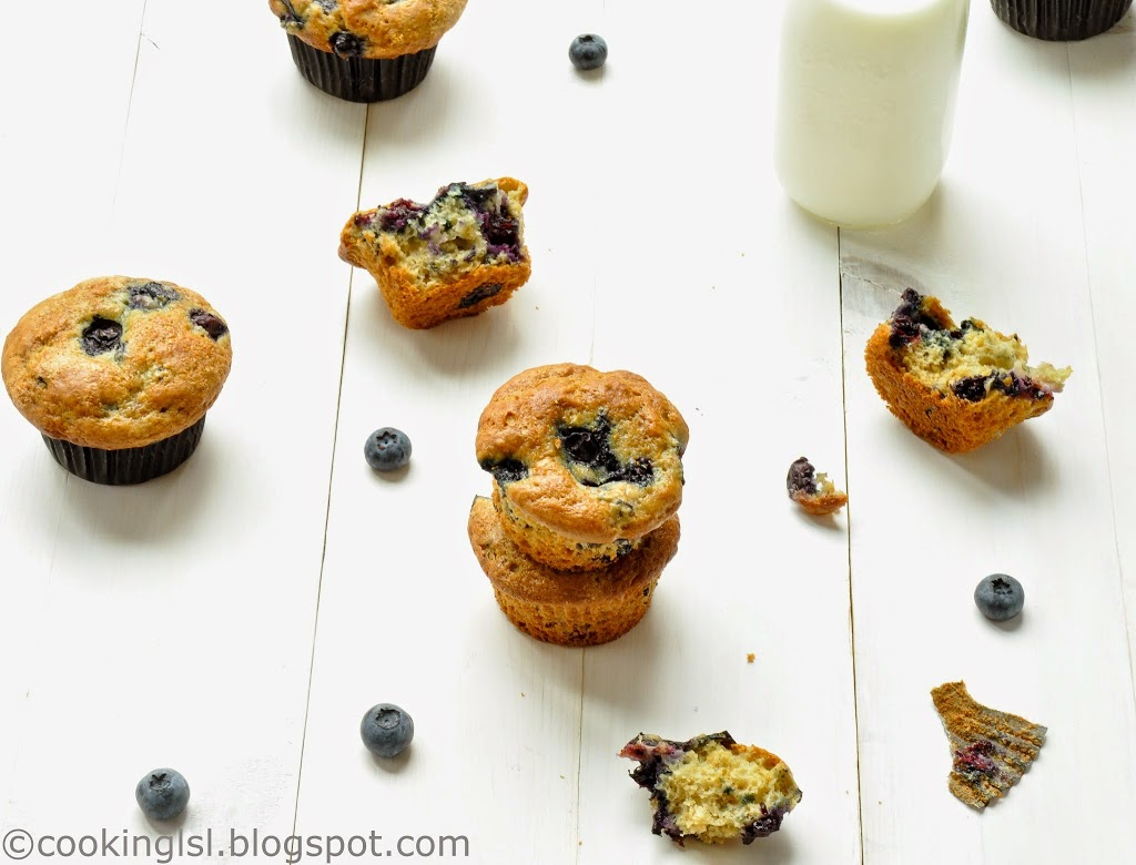 easy soft and moist blueberry muffin recipe