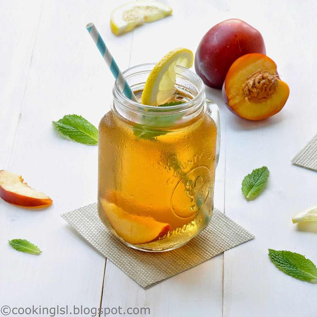 The coffee bean and leaf company orchard peach iced tea