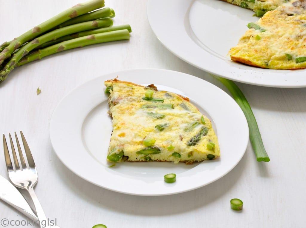 asparagus-mushroom-mozzarella frittata