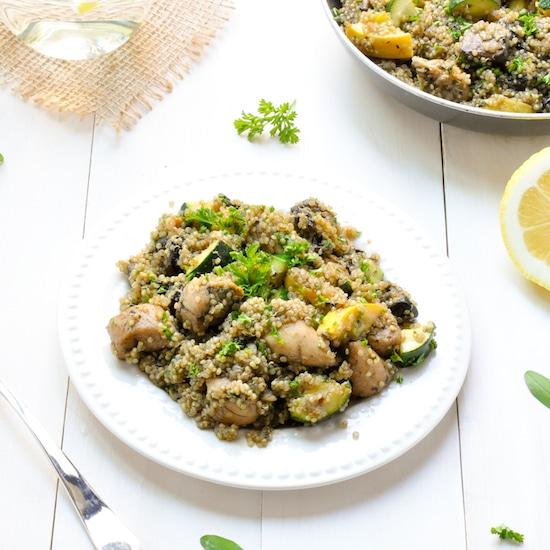 quinoa vegetables chicken skillet