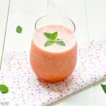 watermelon strawberry smoothie light refreshing
