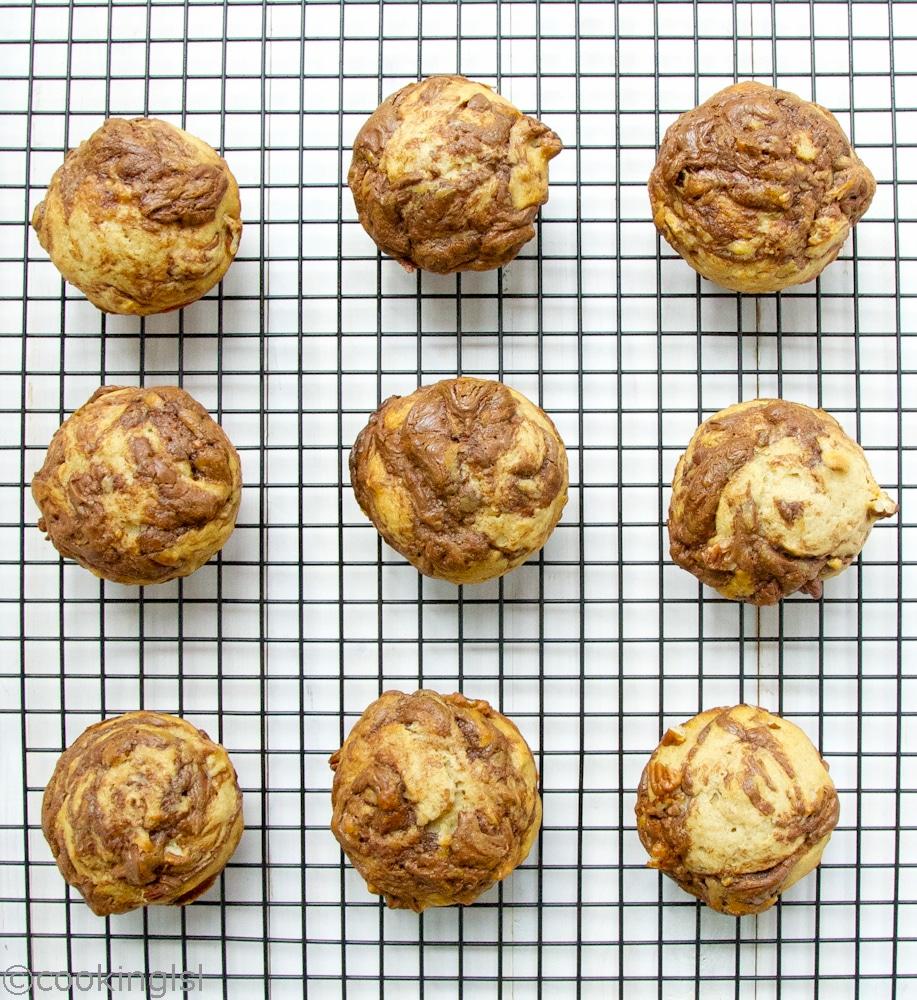 Nutella-swirl-banana-swirl-muffins-with-pecans