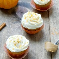 Pumpkin-And-Peanut-Butter-Cupcakes