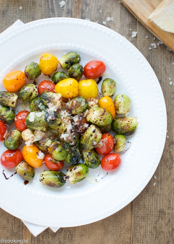 brussels sprouts and tomatoes