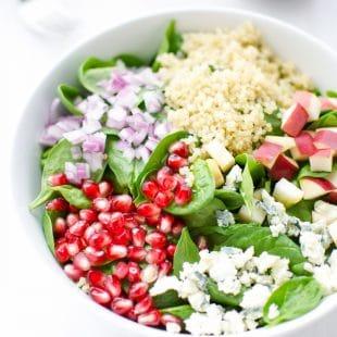 Spinach, Quinoa And Pomegranate Salad