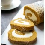 pumpkin-cake-roll-cream-cheese-filling-frosting-Thanksgiving-Halloween