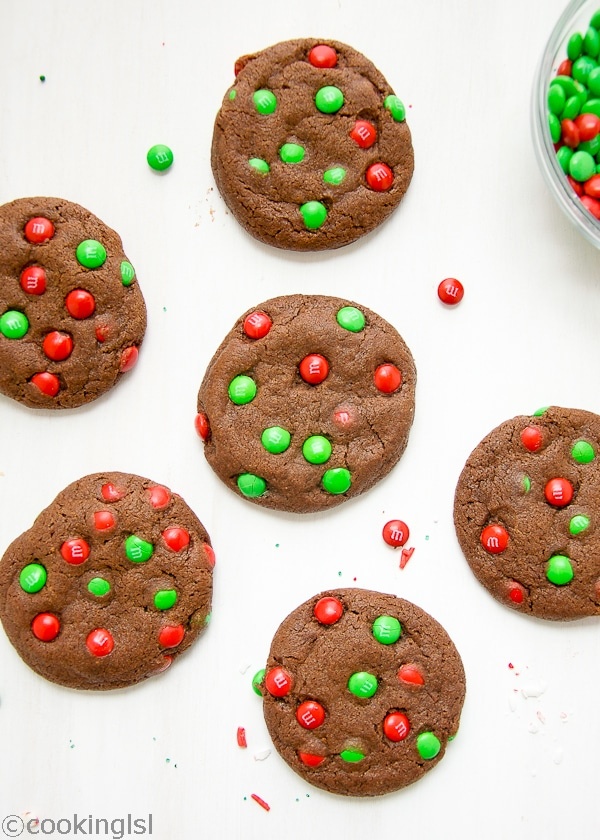 Chocolate M M Cookies And Holiday Recipes I Love