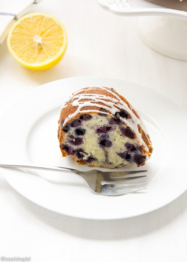 Blueberry Lemon Bundt Cake Christmas, Sweet Tangy Refreshing