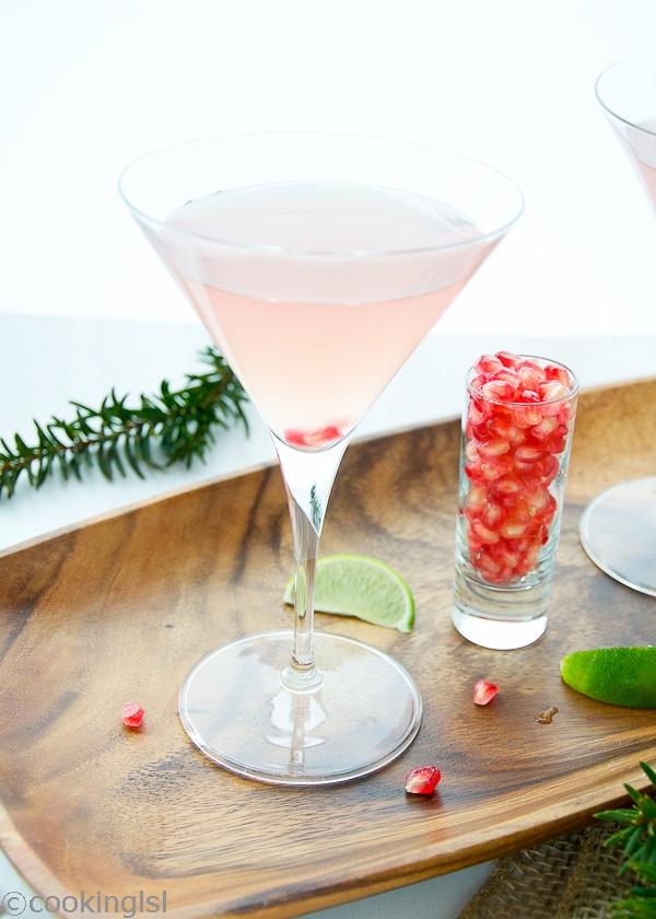Coconut Pomegranate Martini