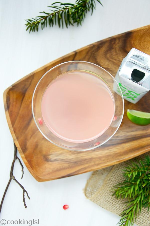 Coconut Water Pomegranate Martini