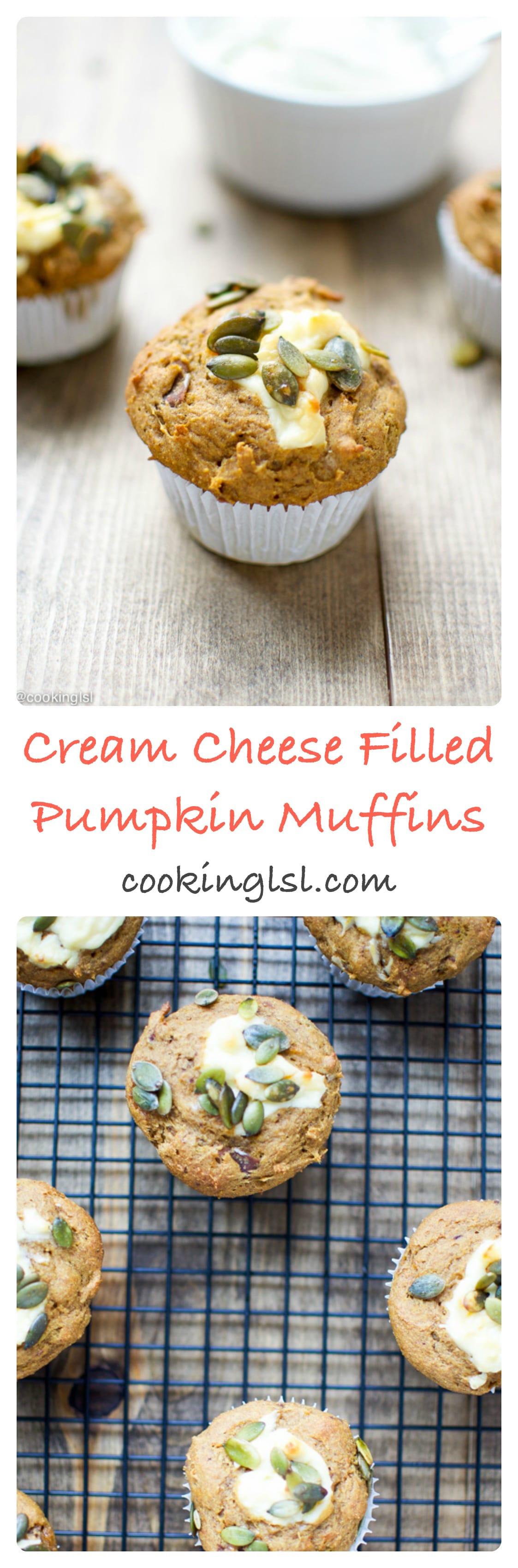 Cream-cheese-filled-pumpkin-muffins-naturally-sweetened