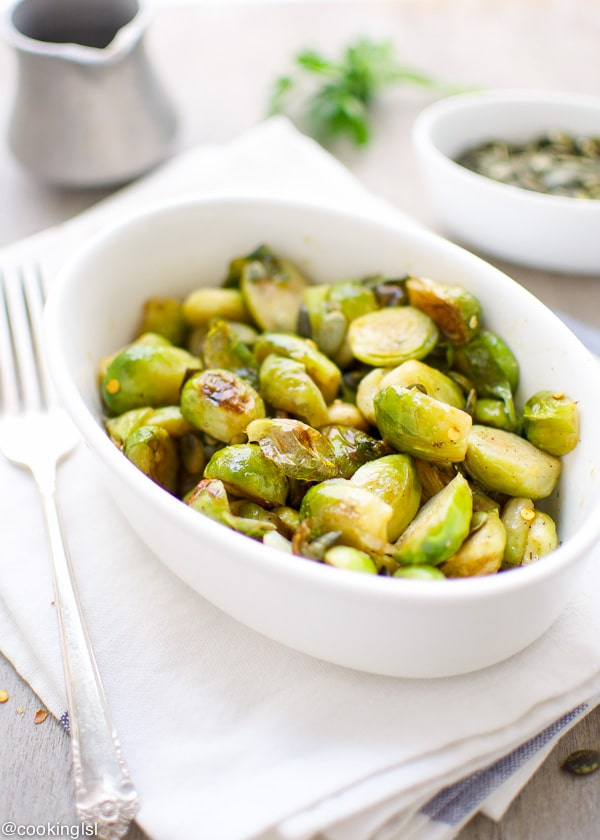 Tender Sweet and Sour Brussels Sprouts Side Dish Mini Cabbages
