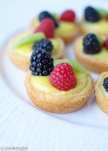 Meyer Lemon Curd Filled Cups