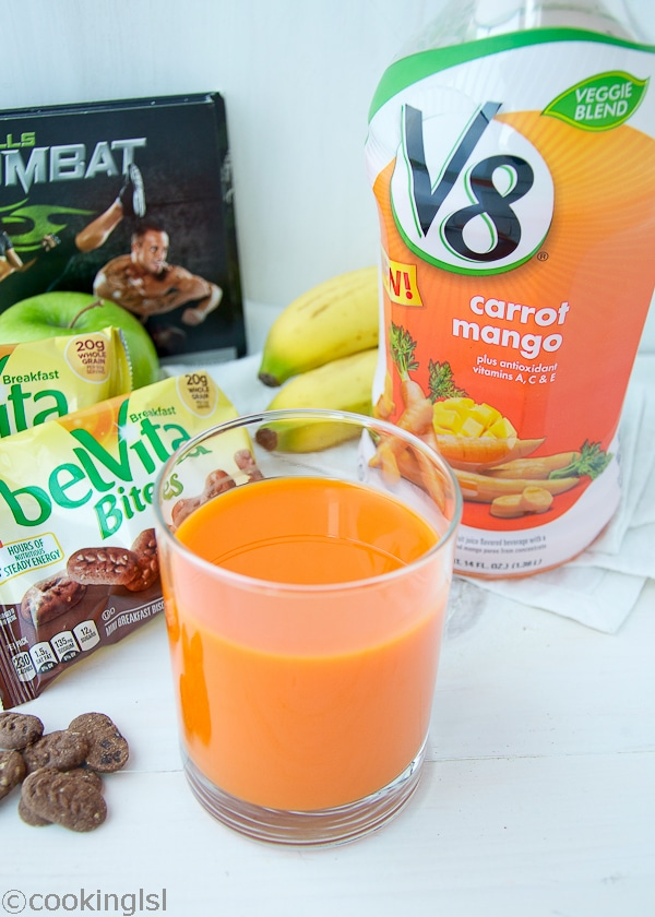 My New Morning Routine BelVita V8 Veggie Blends Carrot Mango