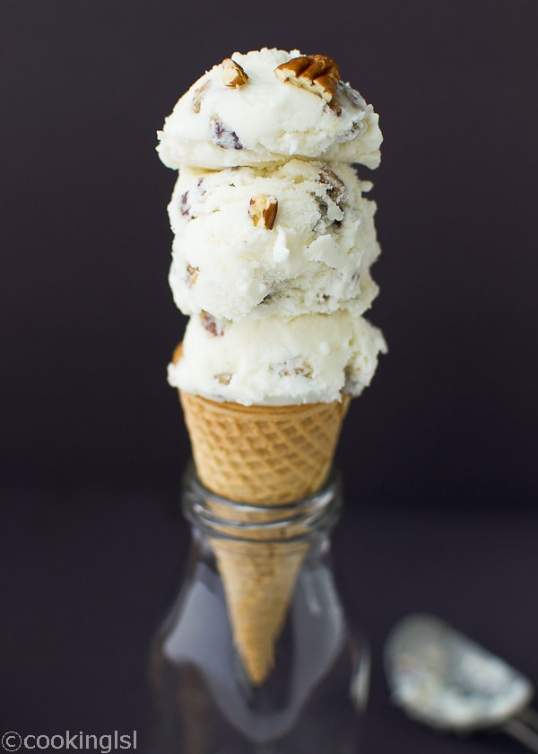 Butter pecan ice cream with cuisinart for Homemade butter pecan ice cream recipe
