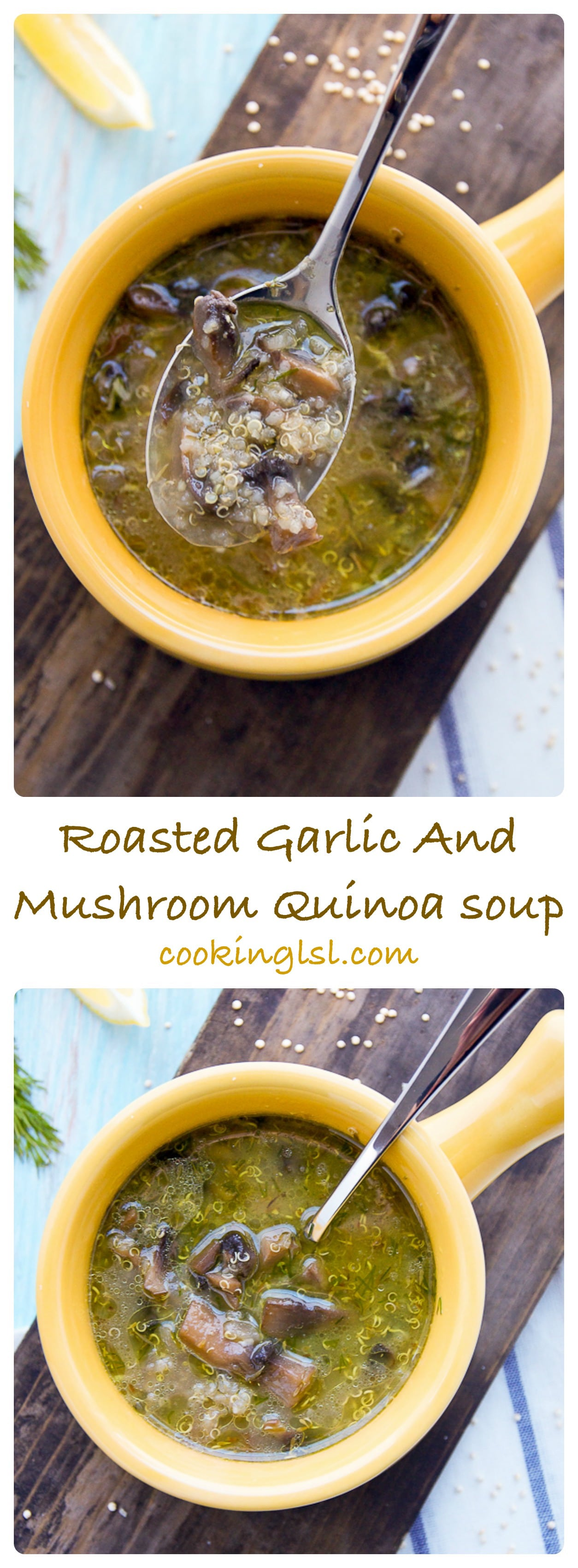 Roasted-garlic-mushroom-quinoa-soup
