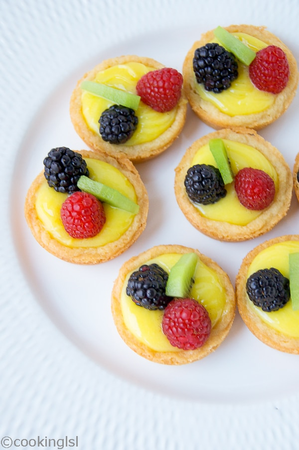 Berry Lemon Curd Cups