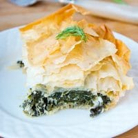 phyllo filo spinach feta Greek pie spanakopita dill parsley banitsa