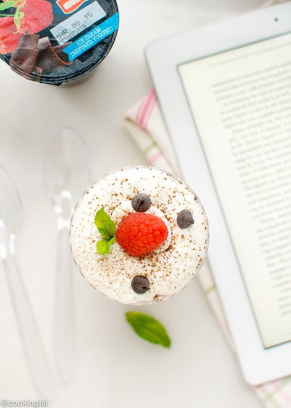 #MullerMoment-raspberry-chocolate-chip-yogurt--tiramisu-parfaits
