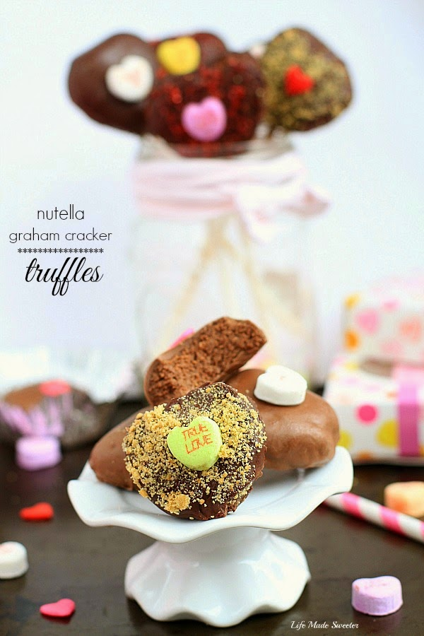Nutella Heart Graham Cracker Truffles by------@LifeMadeSweeter