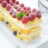 Berries And Peach Pudding Tart