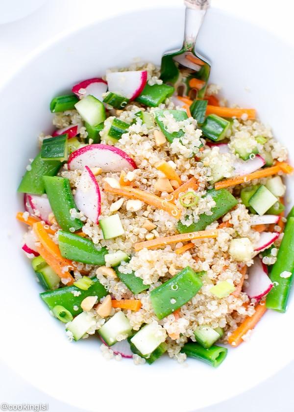 Snap Peas Quinoa Salad