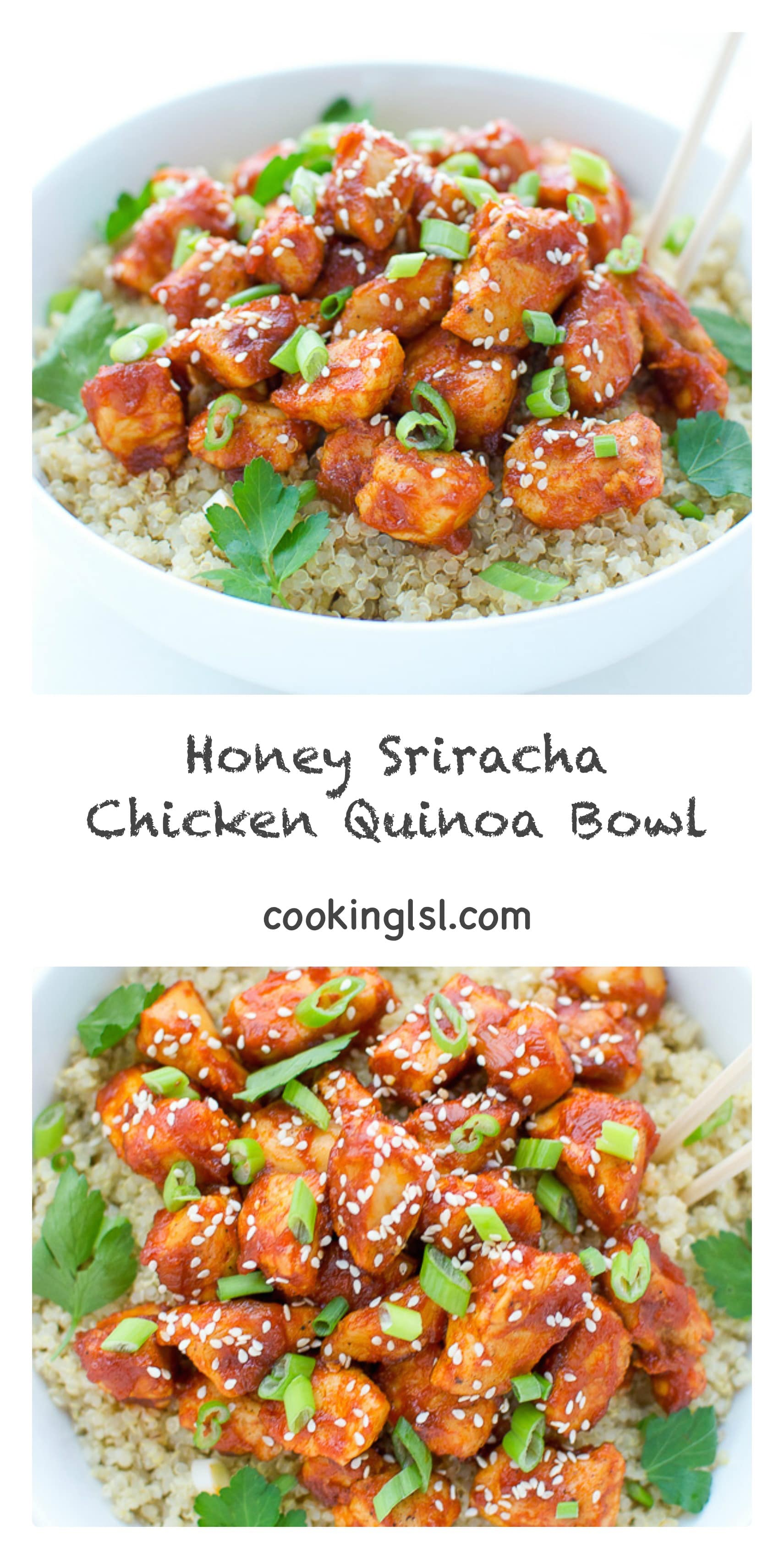 Honey Sriracha Chicken Quinoa Bowl