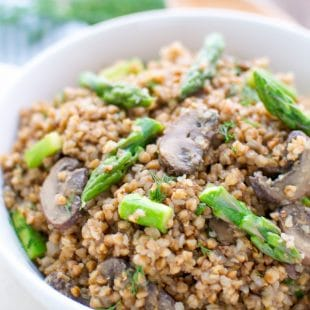 Buckwheat-With-Mushrooms-And-Asparagus