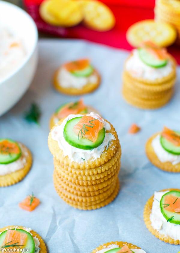 Smoked-Salmon-Dip-On-RITZ®-Crackers