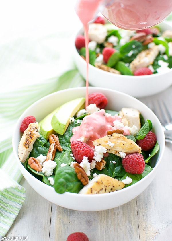 Spinach-Salad-With-Raspberry-Vinaigrette