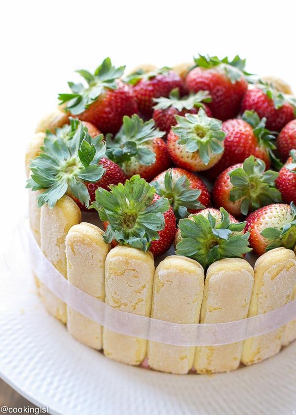 Strawberry Truffle Cake Recipe
