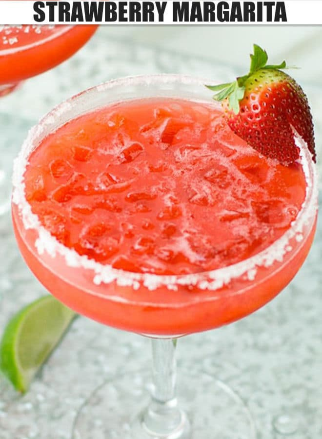 STRAWBERRY MARGARITA IN A GLASS