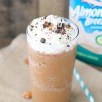 Summer vegan Almond Breeze Almond Milk mocha frappuccino