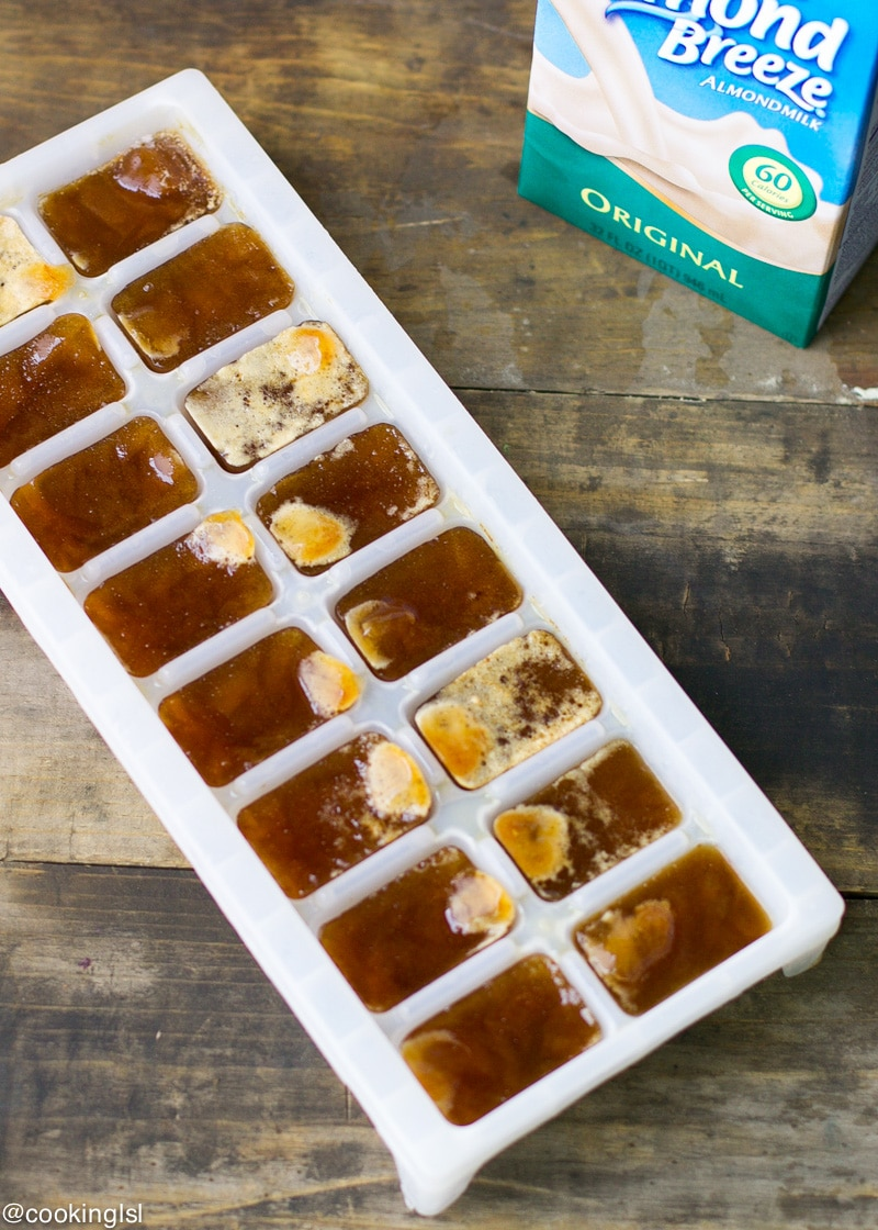 frozen-ice-cubes-Almond-Breeze-Almond-Milk-mocha-frappuccino